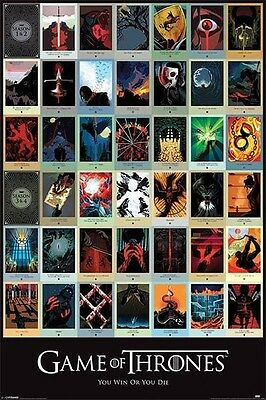 Game Of Thrones Episodes POSTER (61x91cm) Collage Picture Print New