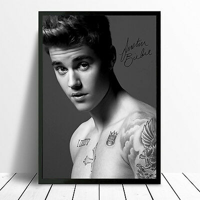 Signed Justin Bieber Poster Print Picture Photo A4 A3 260Gsm Glossy Print