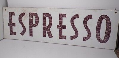 """VINTAGE 1980s LARGE 40"""" ESPRESSO COFFEE STAND COFFEE SHOP STORE ADVERTISING SIGN"""