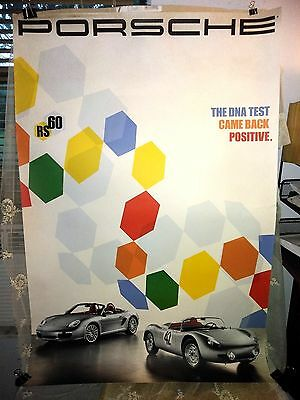 "2008 Porsche Boxster RS-60 Roadster ""DNA"" Showroom Advertising Poster RARE! L@@K"