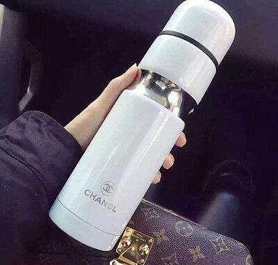 NEW w/ BOX Chanel White VIP Limited Edition Thermo Coffee Drink Travel Cup Mug