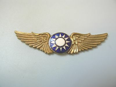 #13 CHINA REPUBLIC,WWII FLYING TIGERS PILOT WINGS BADGE, #210,hallmark,very rare