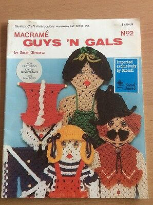 Vintage Macrame Guy 'n Gals No. 2 Pattern Book