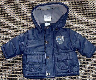Pumpkin Patch Baby Boys Hooded Puffer Jacket Sz 0 - 3 Months New With Tags