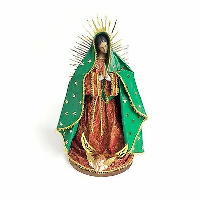 """Virgin Mary Statue of Our lady of Guadalupe 14"""" Catholic figure"""