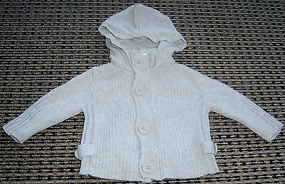 Seed Baby Boys  Hooded Cardigan Sz 3 - 6 Months