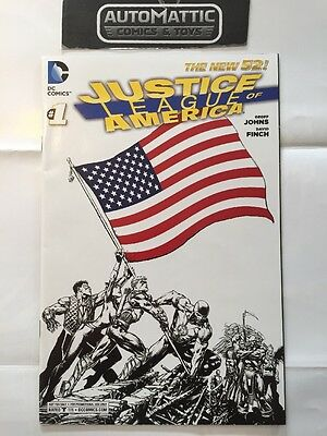 JUSTICE LEAGUE OF AMERICA 1 RRP Sketch Inked Variant David Finch 1 Per Store N52