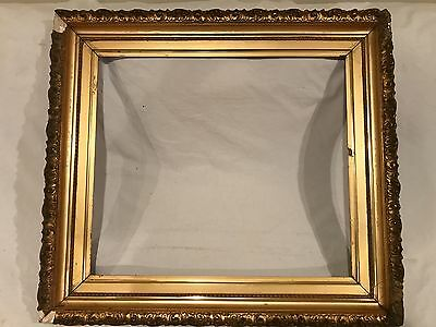Antique 24x21 Victorian Style Gold Leaf Gilt Picture Frame