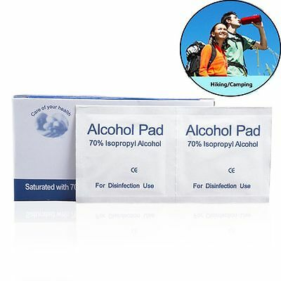 100pcs Safety Antibacterial Tool Alcohol Wipe Pad Cleanser Disinfection Tablet