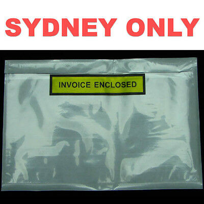 SYDNEY ONLY! 1000 PCS 150x230mm Invoice Enclosed Print Envelope Document Pouch