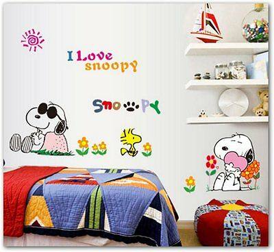 Vinilo wall sticker i love snoopy decoracion infantil penauts
