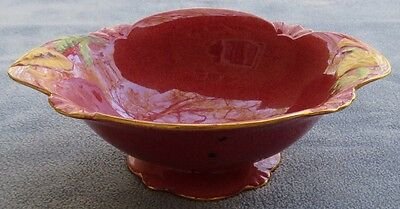 Royal Winton Mottled Pink Poppy Floral Large Footed Serving Bowl England