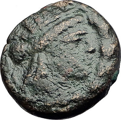 SMYRNA in IONIA 75BC Apollo POET HOMER ODYSSEY ILIAD Ancient Greek Coin i61217