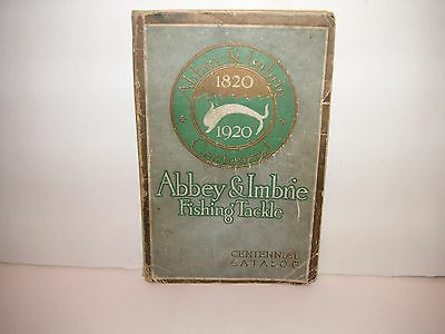 1920 abbey & Imbrie vintag fishing catalog fly rod lure kentucky reel heddon