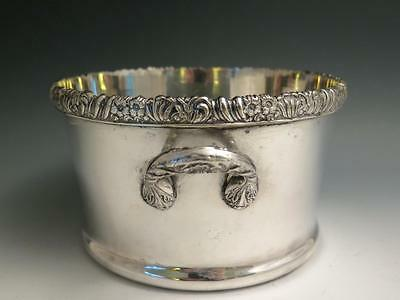 19Th C Charles Collins English Sheffield Silver Plate Magnum Wine Coaster