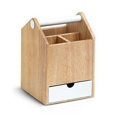 Umbra Tall Birch Plywood Toto Storage Box, Natural