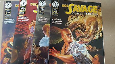 Alternative Comic lot doc savage curse of the fire god 1 2 3 4 vf+ bagged
