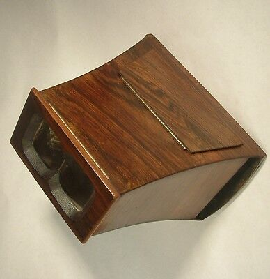 """ANTIQUE c1860 scarce ROSEWOOD BREWSTER STEREO VIEWER STEREOSCOPE  7x 3 1/2"""" card"""
