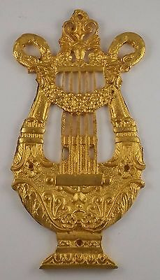 Ormolu  French Gilded Furniture Art Harp Large
