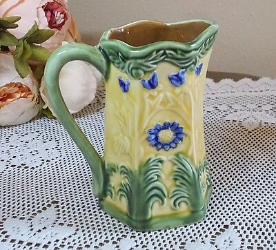Jay Wilfred Andrea by Sadek Cream Pitcher Yellow with Blue Butterflies & Daises