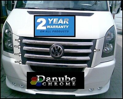 vw CRAFTER chrome front grill 5pca 2006-2012 S.STEEL