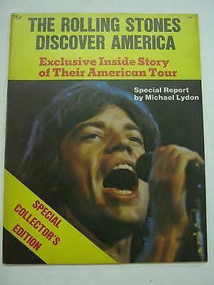 THE ROLLING STONES DISCOVER AMERICA by Michael Lydon 1970 Collectible magazine