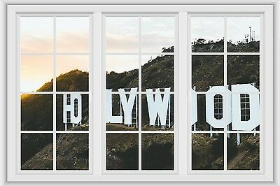 3D Film Strip Hollywood Sign Wall Sticker Poster M18-377