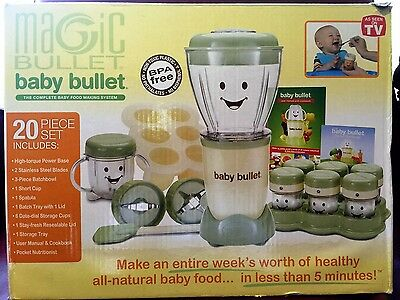 Magic Bullet Baby Bullet Complete Baby Food Making System 20 pc Set NEW