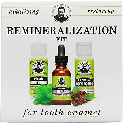 Kit for Tooth Enamel & Mineral Tooth Powder Mouthwash & Remineralization Liquid