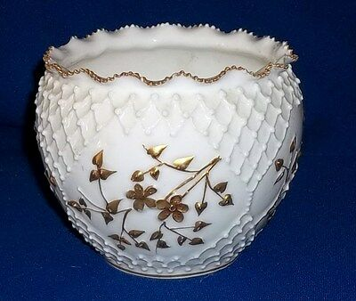 Antique Knowles Taylor Knowles LOTUS Ware Art Porcelain Jardiniere Bowl 1880's