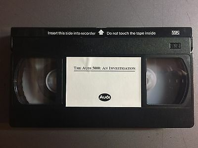"""Audi  """"Audi  5000 -- An Investgation"""" VHS VCR Video RARE!! Awesome L@@K"""