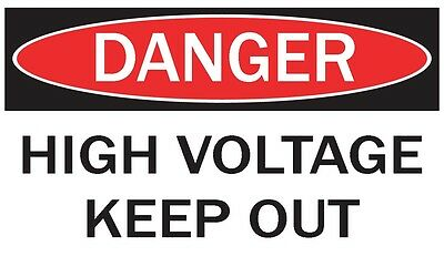 DANGER -HIGH VOLTAGE KEEP OUT/ Vinyl Decal / Sticker / Safety Label  PIckA Size