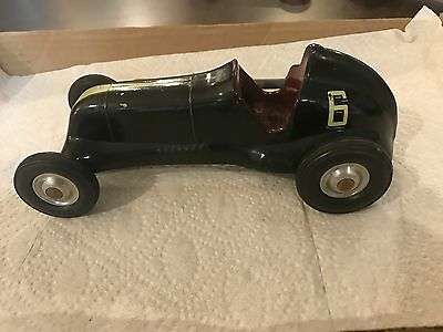 Vintage 1950's Cox Thimble Drome Special  Cox #6 Toy Race Car in BLACK RARE CAR