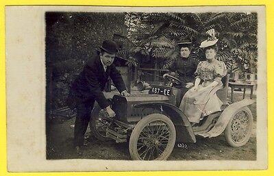 cpa CARTE PHOTO RPPC Real Photo Post Card vers 1910 AUTOMOBILE VOITURE TACOT CAR