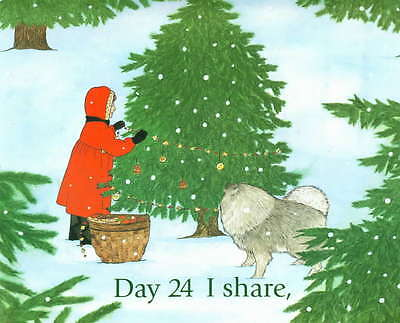 Childrens Dog Story Book COUNTING TO CHRISTMAS Keeshond in Story
