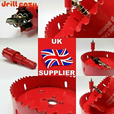 16 to100mm Bi Metal M42 HSS Hole Saw Cutter Drill Bit For Wood Plaster Board