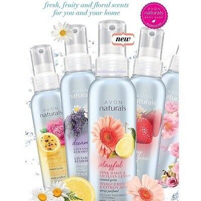 1 ,2 or 4 Bottles Avon Naturals Room and Linen Spritz Spray Various Fragrances