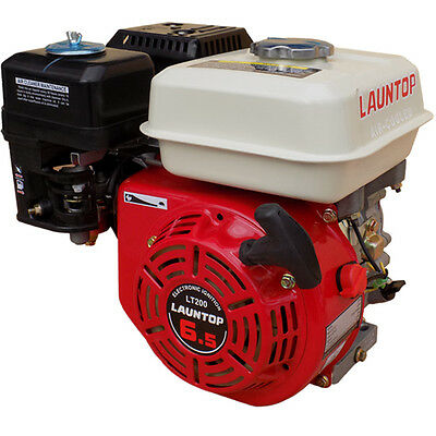 6.5HP Petrol Engine OHV 4 Stroke Motor with Recoil Start - LAUNTOP