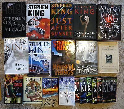 Lot of 20 Stephen King books.....Joyland, Doctor Sleep, Blockade Billy + more