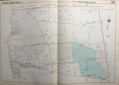 1950 Main Line Chester County Pa, West Whiteland Township Exton Atlas Map