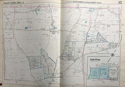1950 Main Line, Chester County Pa, East Goshen & Willistown Township Atlas Map
