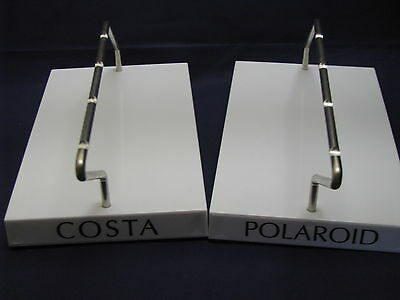 Lot Of 2 Polaroid/ Costa Displays Sunglass/eyeglass