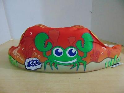 Life Jacket Children's Size 30-50 Pound Stearns Puddle Jumpers Red Orange Crab