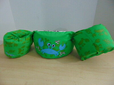 Life Jacket Children's Sizes 30-50 Pound  Stearns Puddle Jumpers Green Crab