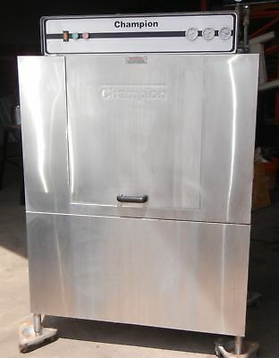 CHAMPION 44 DR DUAL RINSE RACK CONVEYOR DISHWASHER HIGH TEMP with BOOSTER