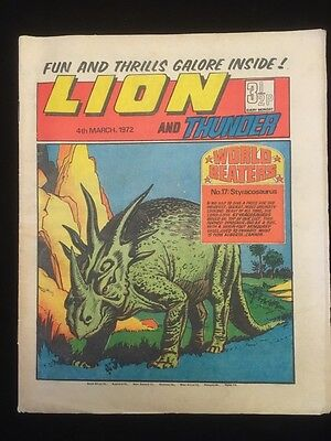 Lion and Thunder Comic - 4th March 1972 - All Complete - IPC