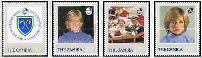 Timbres Lady Diana Gambie 446/9 ** lot 20161