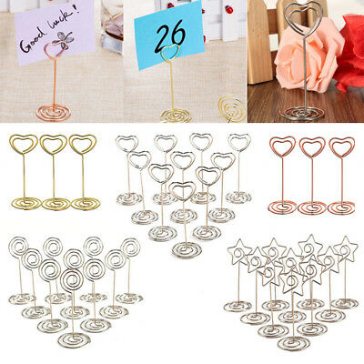 10/30 Wedding Favors Place Card Holder Table Photo Memo Number Name Clips Base