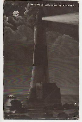 POSTCARD  SUSSEX  Beachy Head  Lighthouse by Moonlight