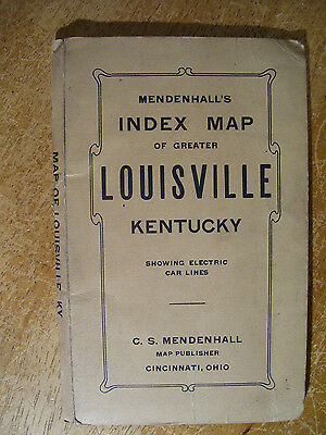 "1911 Mendenhall's Index Map Of Greater Louisville Kentucky (28x30"")"